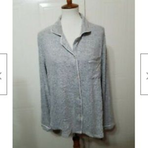 Stars Above Women's Gray Pajama Top Size L